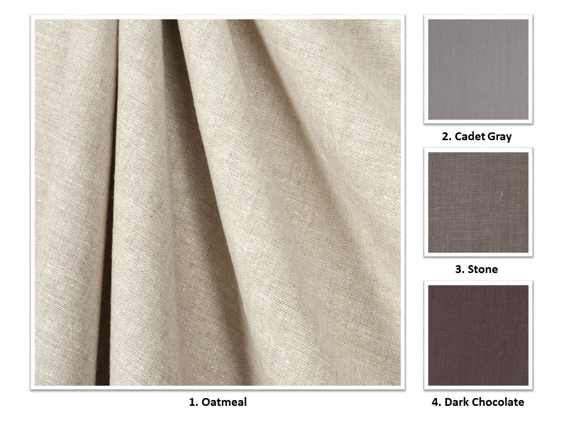 28 Colors Handmade Premium European Linen Drapery Panel 50 Wide For Extra Wide Linen Curtains (Image 1 of 15)