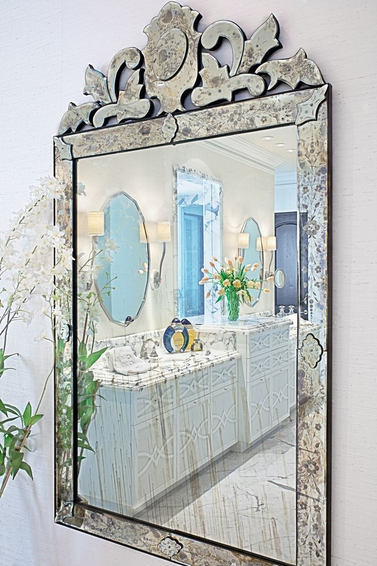 29 Best Images About Venetian Mirror On Pinterest Tea Cart Regarding Venetian Mirror Bathroom (Image 3 of 15)