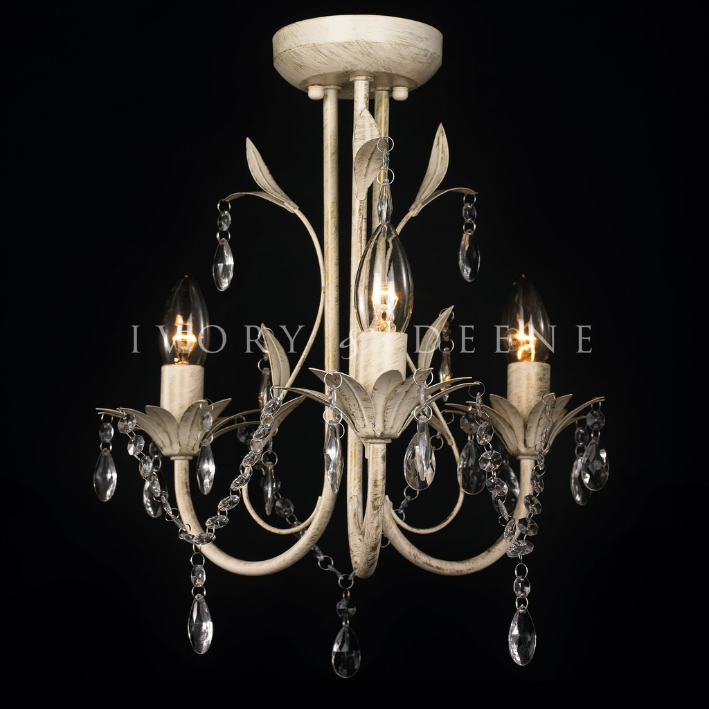 3 Light Chandelier Design Of Your House Its Good Idea For Your Regarding Cream Crystal Chandelier (Image 3 of 15)