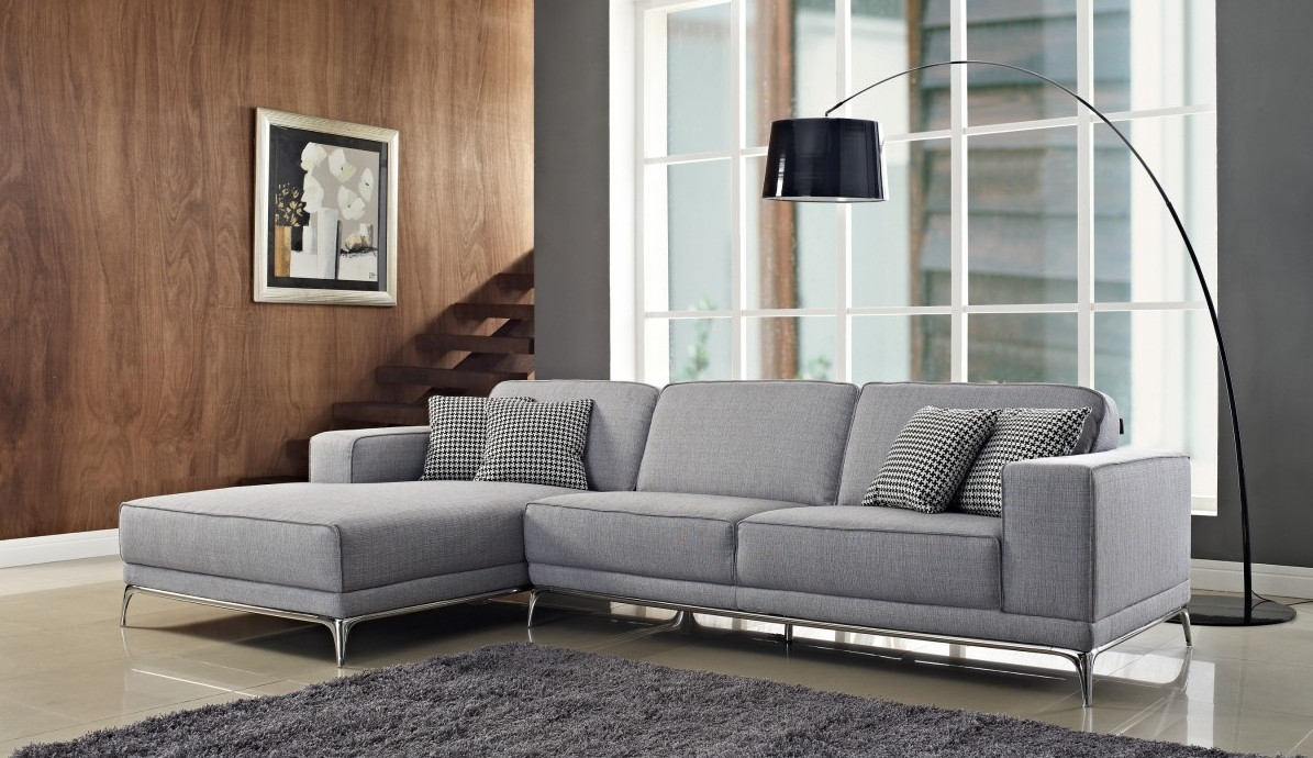 3 Piece Gray Color Sectional Sleeper Sofa With Stainless Steel Inside 3 Piece Sectional Sleeper Sofa (Image 1 of 15)