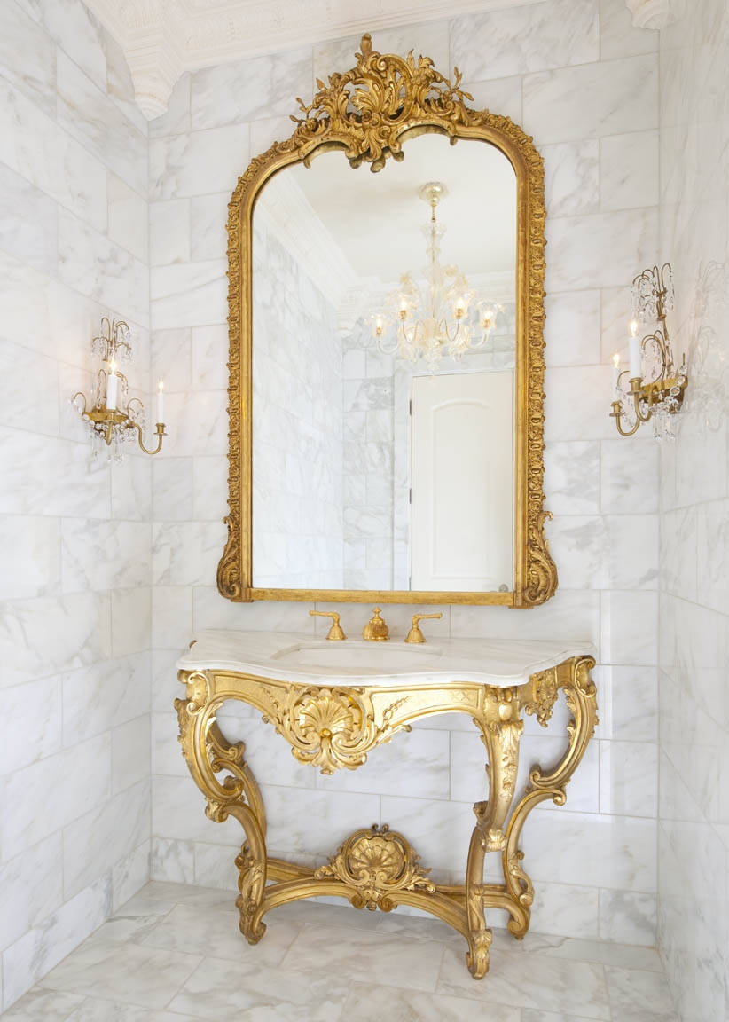 3 Secrets To French Decorating Versailles Inspired Rooms Pertaining To French Inspired Mirrors (Image 3 of 15)