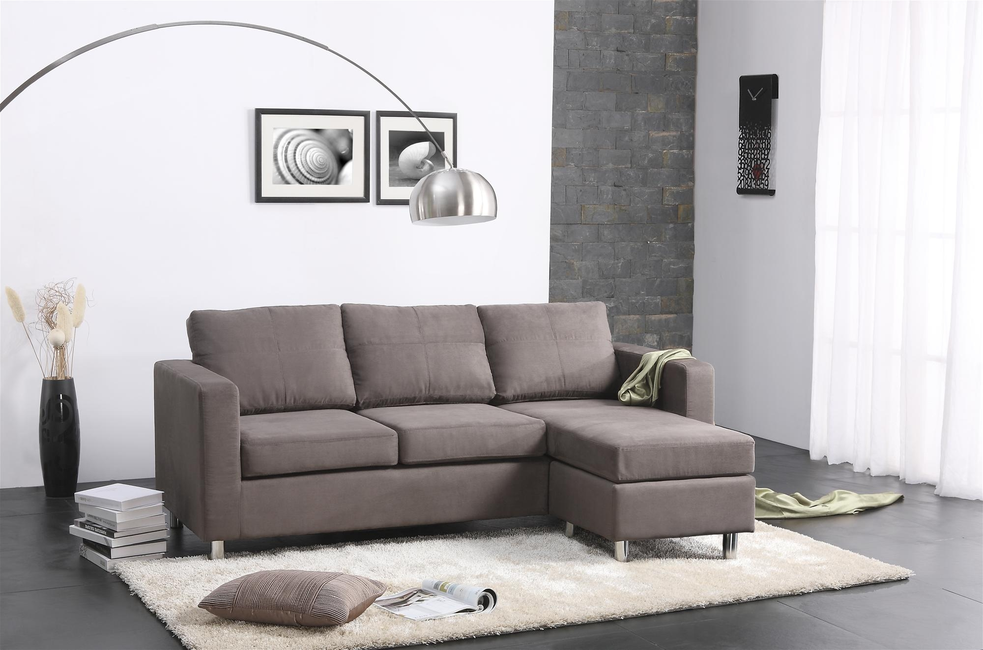 300 Small Spaces Sectional Sofa Walmart Studio Living Room With Regard To Apartment Sectional Sofa With Chaise (Photo 10 of 15)