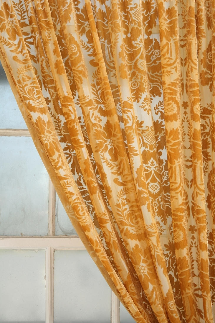 31 Best Images About Velvet Curtains On Pinterest Orange Design Throughout Yellow Velvet Curtains (Image 3 of 15)