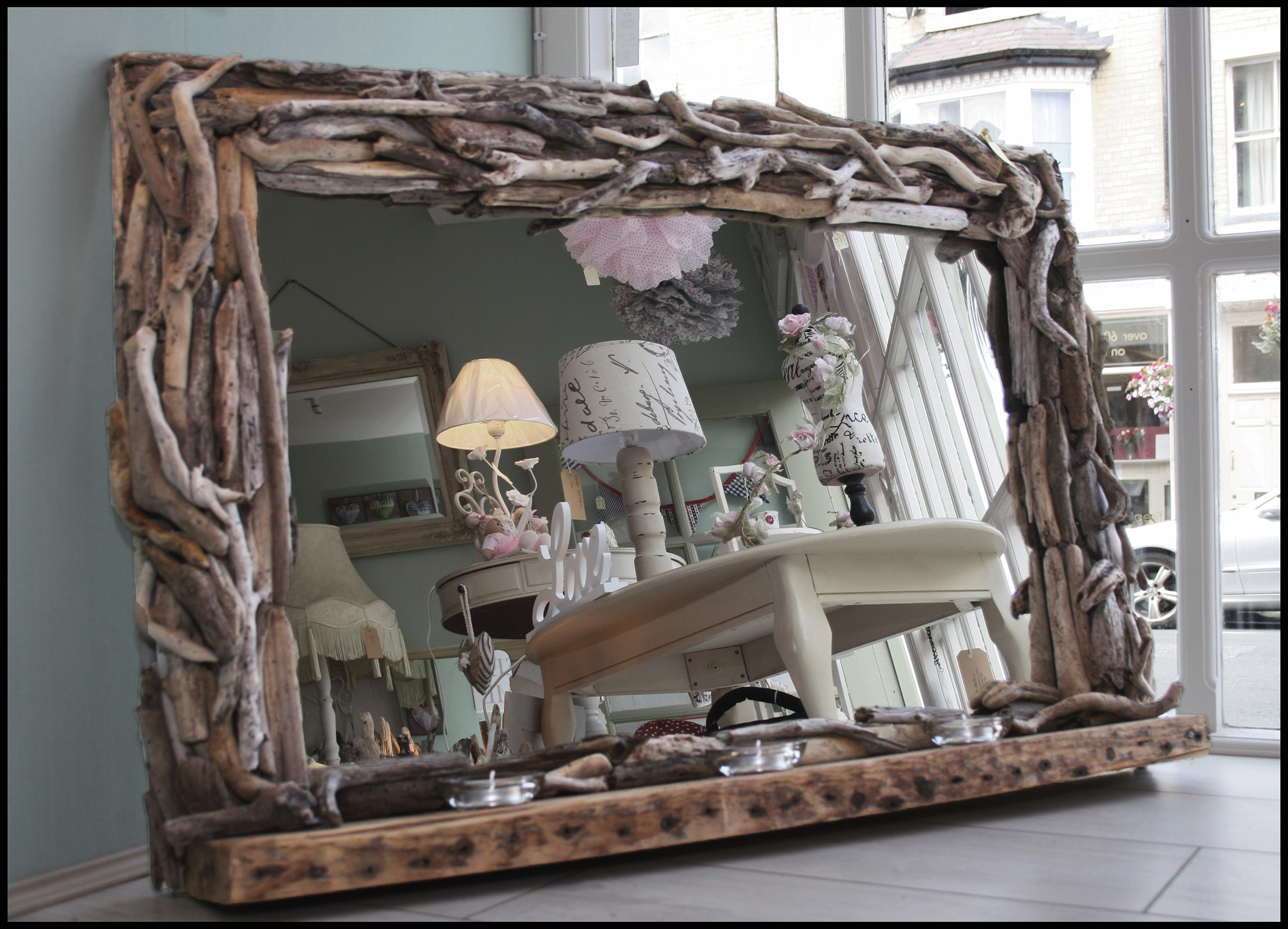 31 Naturally Beautiful Driftwood Mirrors With Very Large Mirrors (Image 3 of 15)