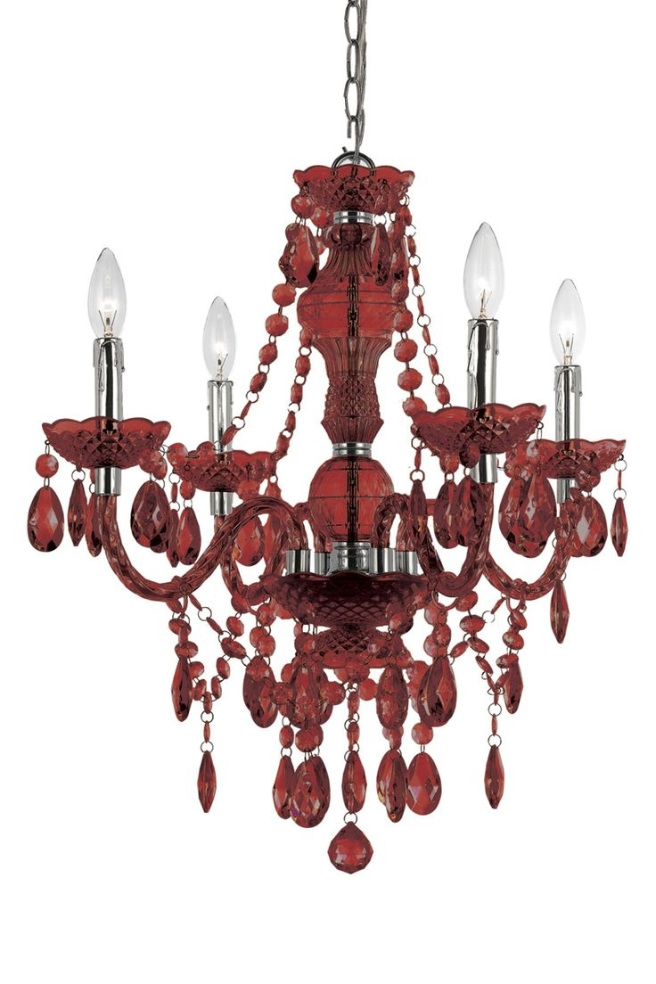 314 Best Images About Chandelier On Pinterest Antiques Crystals Throughout Red Chandeliers (Image 1 of 15)