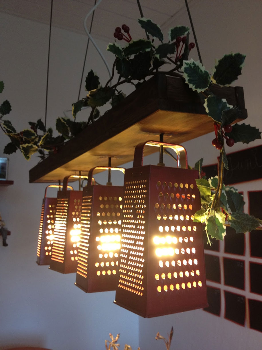 33 Diy Lighting Ideas Lamps Chandeliers Made From Everyday In Weird Chandeliers (Image 4 of 15)