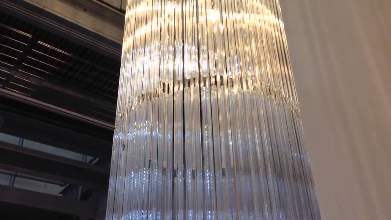 36m Custom Bespoke Made To Measure Glass Long Chandelier First For Long Chandelier Light (Image 3 of 15)