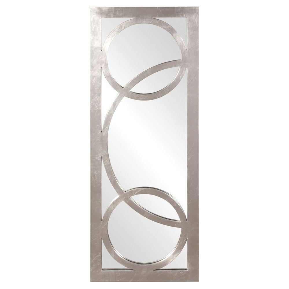 38 In X 15 In Silver Whimsical Overlay Framed Mirror 51261 The With Regard To Long Silver Mirror (Image 1 of 15)