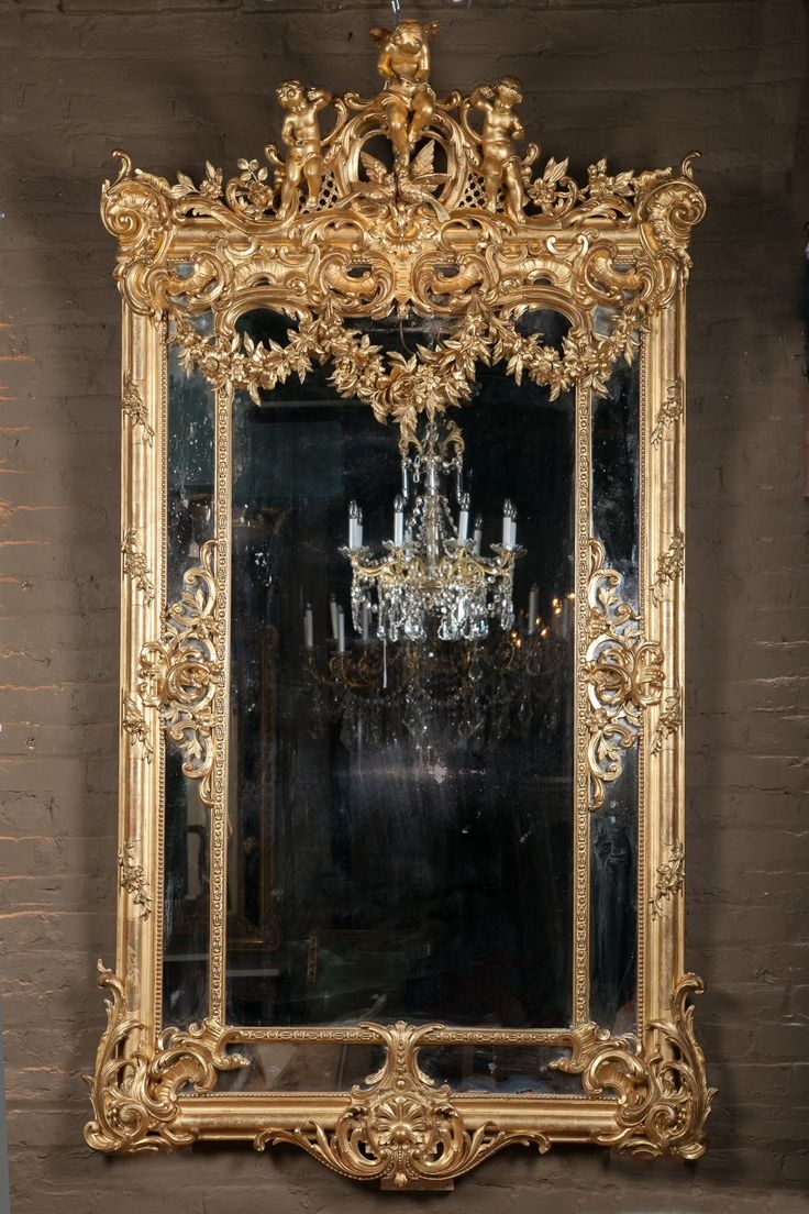 418 Best Images About Mirror Glam On Pinterest Floor Mirrors Pertaining To Large French Mirrors (Image 2 of 15)