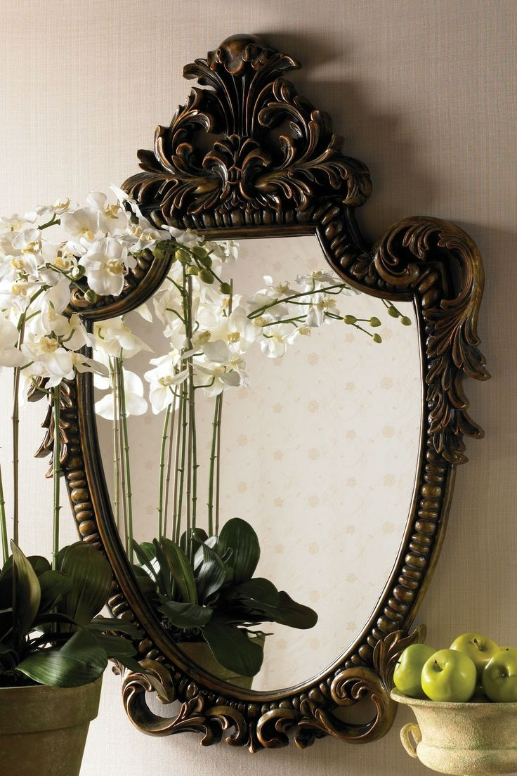 464 Best Images About Mirrors On Pinterest With Gothic Wall Mirror (Image 1 of 15)