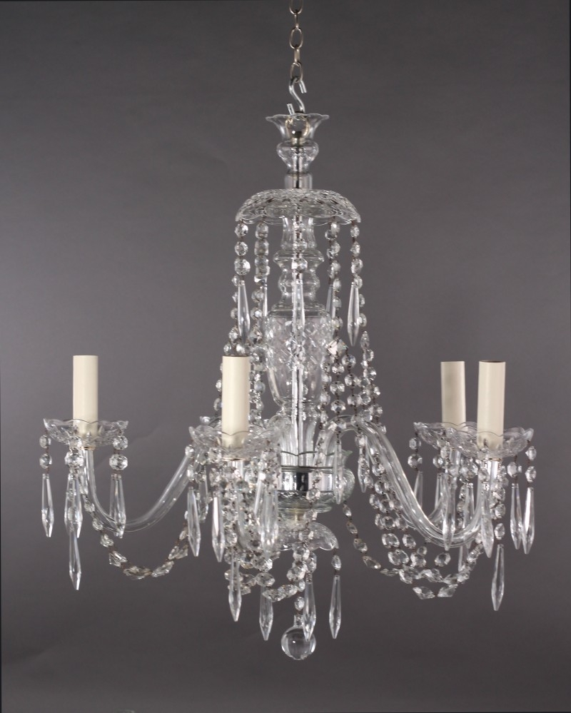 5 Branch Crystal Chandelier Pertaining To Branch Crystal Chandelier (Image 2 of 15)