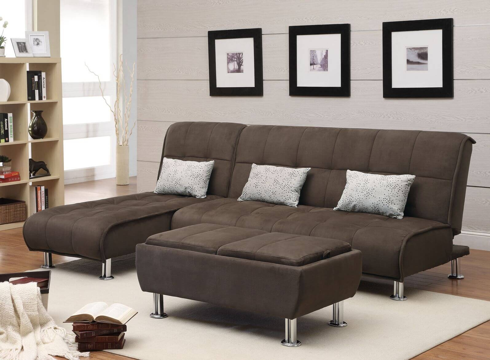 50 Beautiful Living Rooms With Ottoman Coffee Tables Within Coffee Table For Sectional Sofa With Chaise (Image 1 of 15)