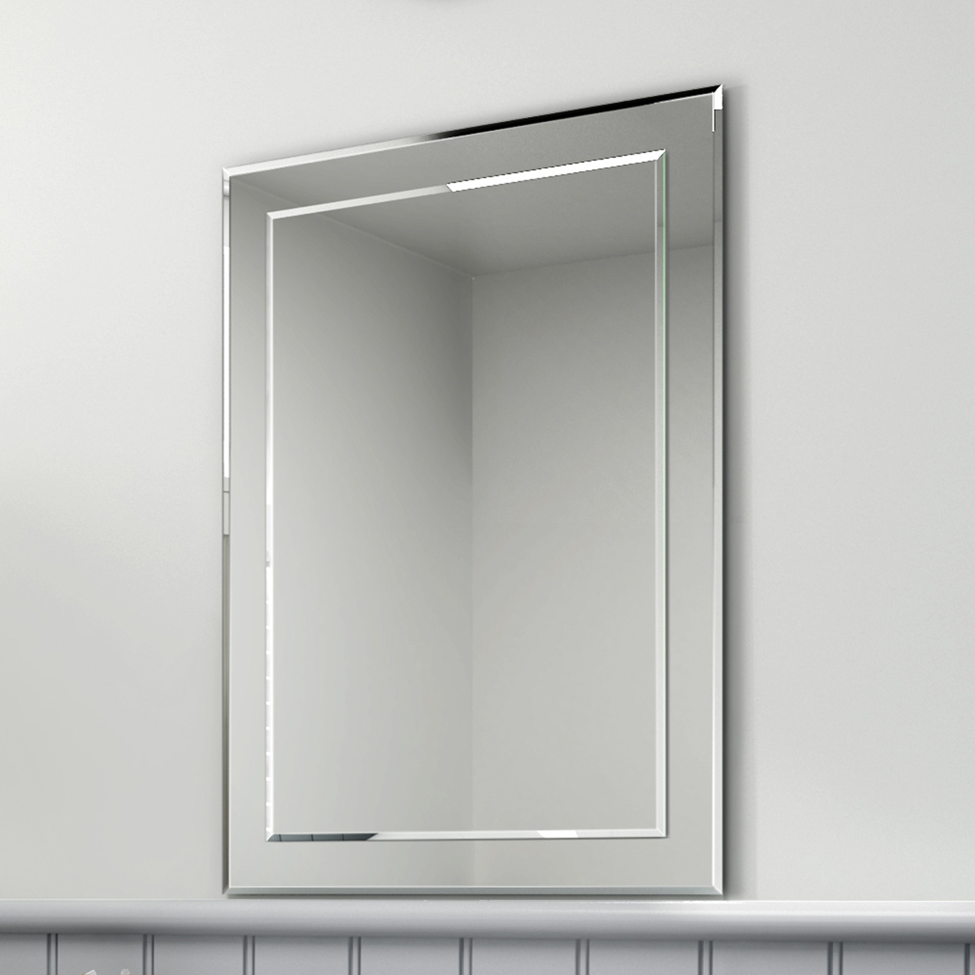 500x700mm Rectangular Glass Bevelled Edge Bathroom Mirror Mc148 Intended For Bevelled Bathroom Mirror (Image 2 of 15)