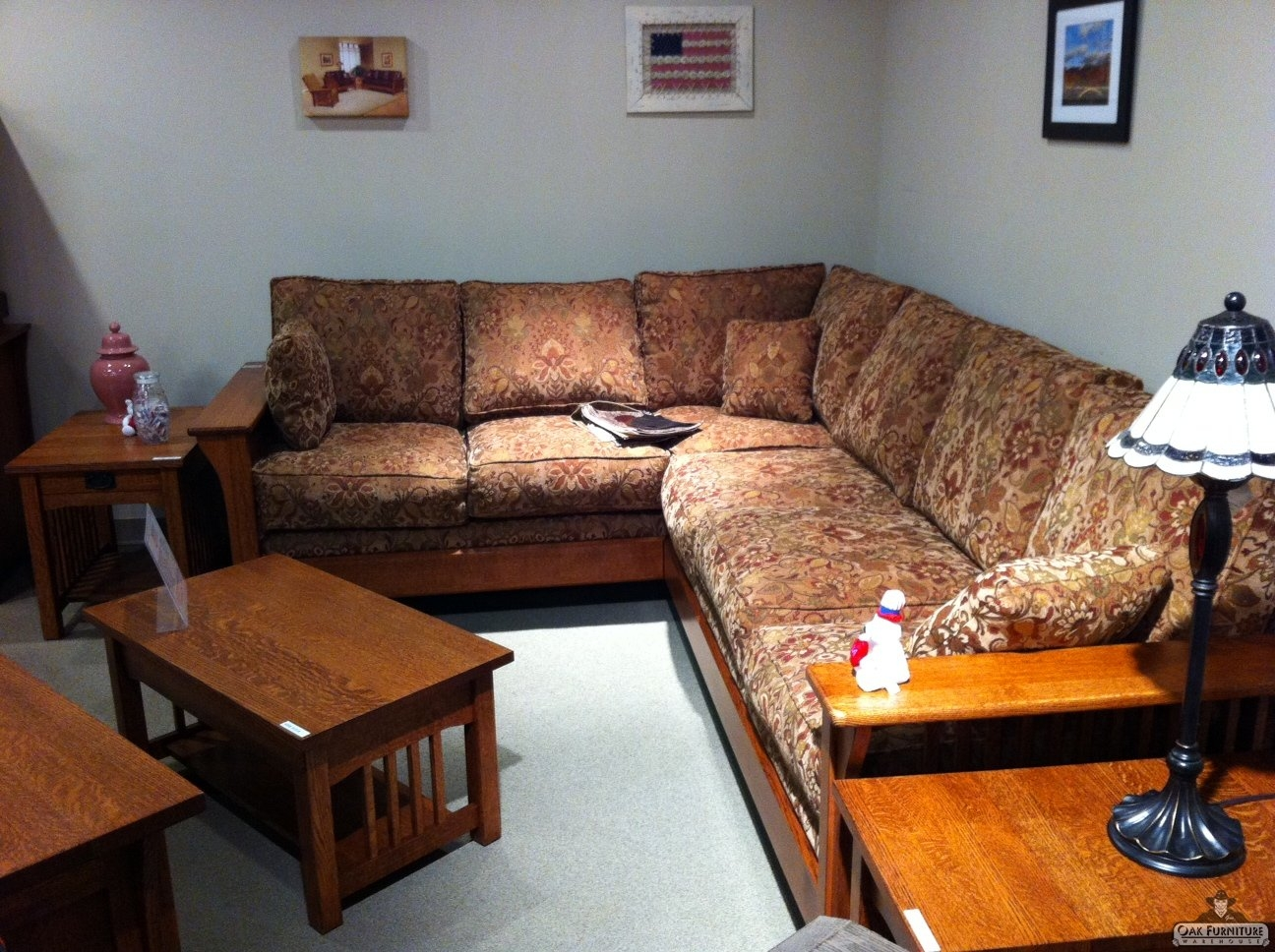 52 Craftsman Style Sofa Voorhees Craftsman Mission Oak Furniture Inside Craftsman Sectional Sofa (Image 1 of 15)