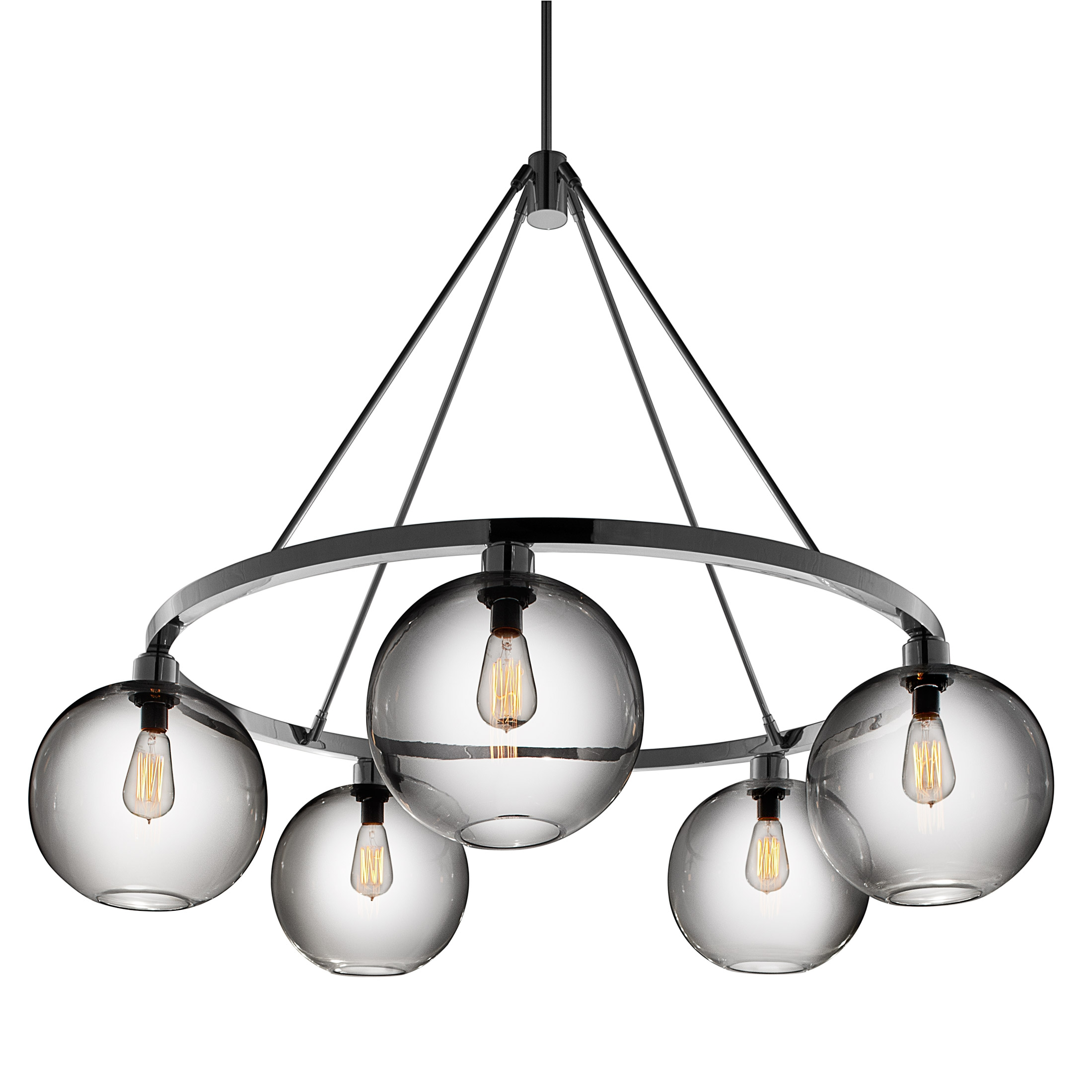 53 Modern Chandelier Lighting Chromecrystalmetal Bubble Shade For Contemporary Modern Chandelier (Image 2 of 15)