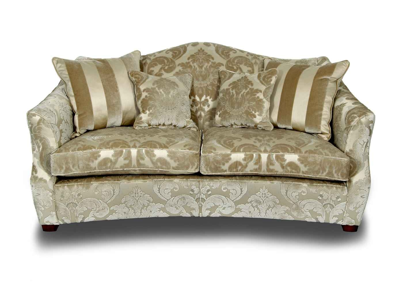 55 Fabric Sofas Living Room Fabric Three Cushion Sofa 7305 31 At Within Elegant Fabric Sofas (Image 2 of 15)