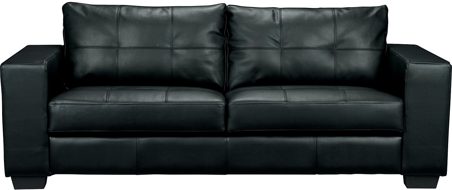 550 Costa Black Bonded Leather Sofa The Brick Design In Brick Sofas (Image 1 of 15)