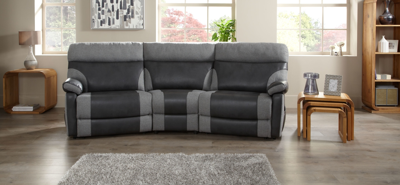 56 Sofas And More Bentley Rolls Into The Furniture Game 1 Within Curved Recliner Sofa (Image 1 of 15)
