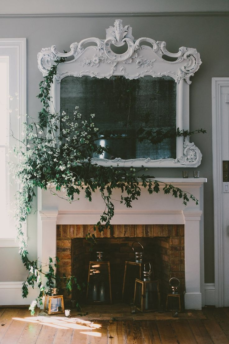562 Best Images About Decorating With Mirrors On Pinterest Floor Regarding Large Mantel Mirror (Image 2 of 15)