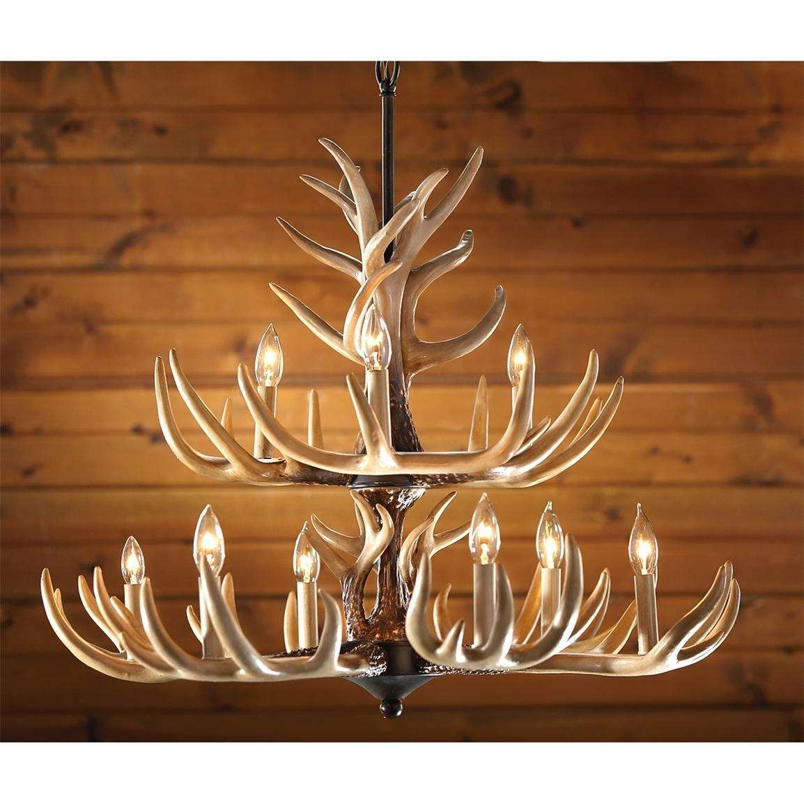 6 Light Antler Chandelier 210035 Lighting At Sportsmans Guide In Antler Chandeliers And Lighting (Image 1 of 15)
