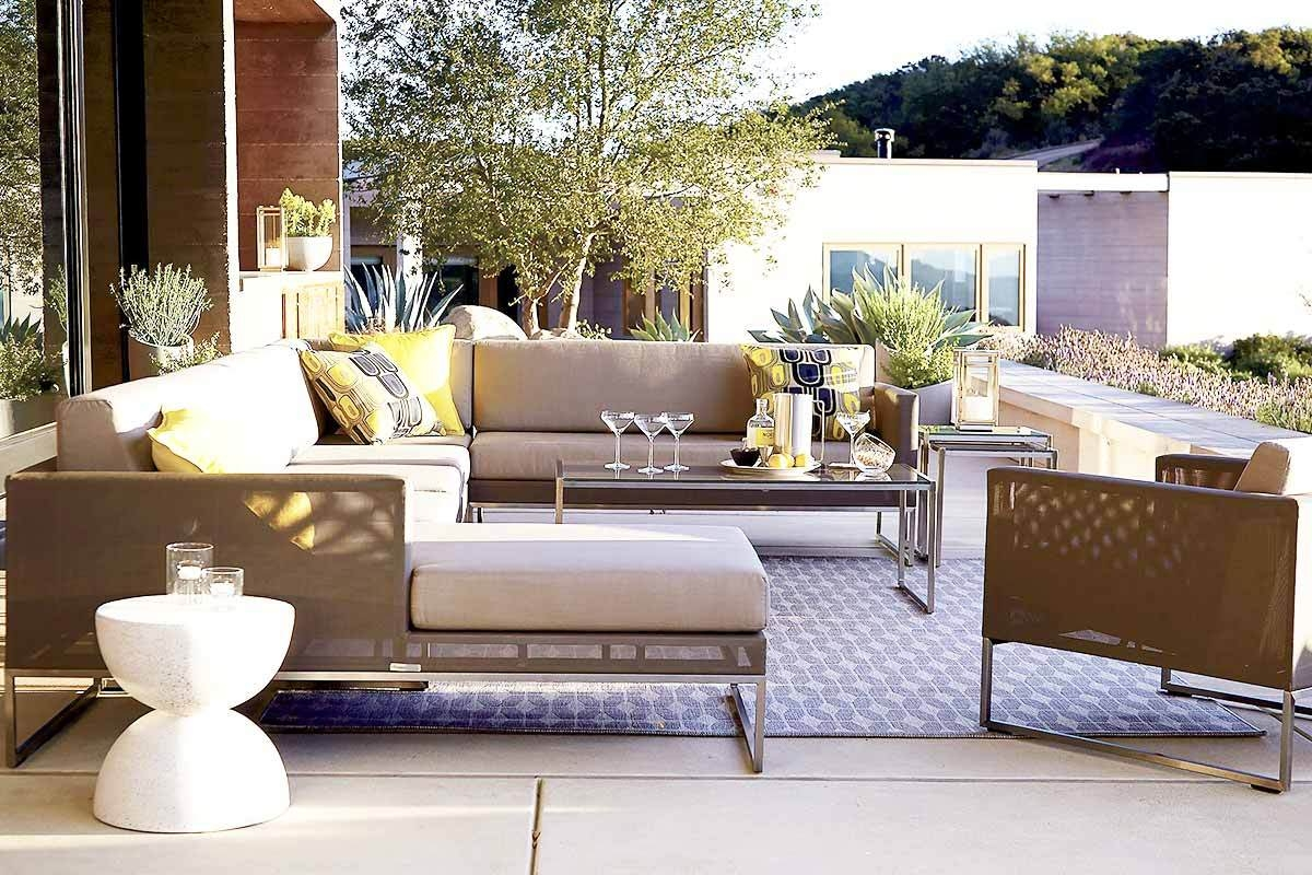 6 Outdoor Sectional Sofas For A Contemporary Patio Regarding Crate And Barrel Sectional Sofas (Image 1 of 15)