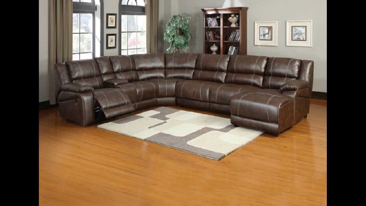 6 Pc Miller Saddle Brown Bonded Leather Sectional Sofa With Regarding 6 Piece Leather Sectional Sofa (Photo 14 of 15)