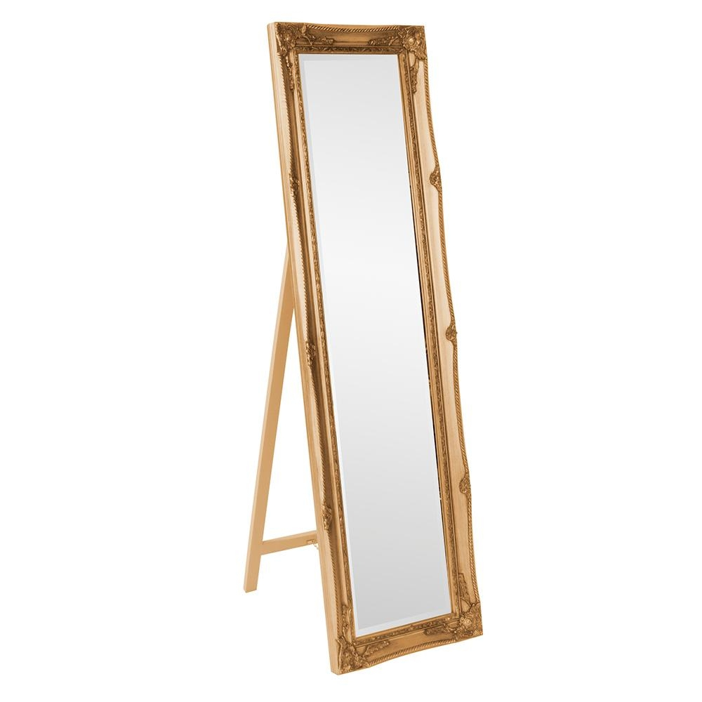 66 In X 18 In Antique Gold Standing Mirror 57027 The Home Depot Intended For Gold Standing Mirror (Photo 4 of 15)
