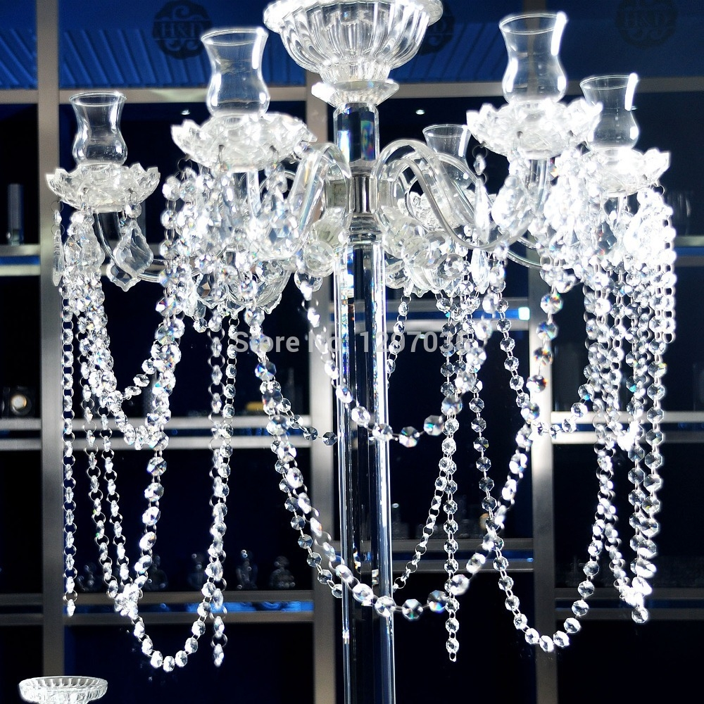 68feet Glass Crystal Prisms 14mm Octagon Chandelier Chain Inside Chandelier Accessories (Image 1 of 15)