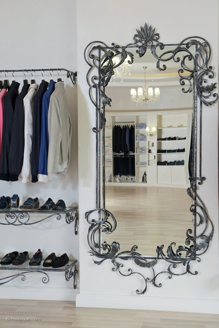 70 Best Images About Wrought Iron Mirrors On Pinterest Dressing In Black Wrought Iron Mirror (Image 1 of 15)
