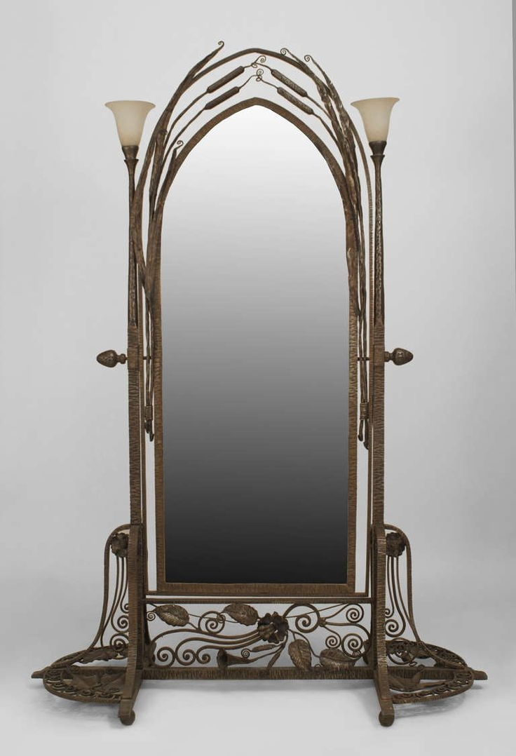 70 Best Images About Wrought Iron Mirrors On Pinterest In Wrought Iron Floor Mirror (View 6 of 15)