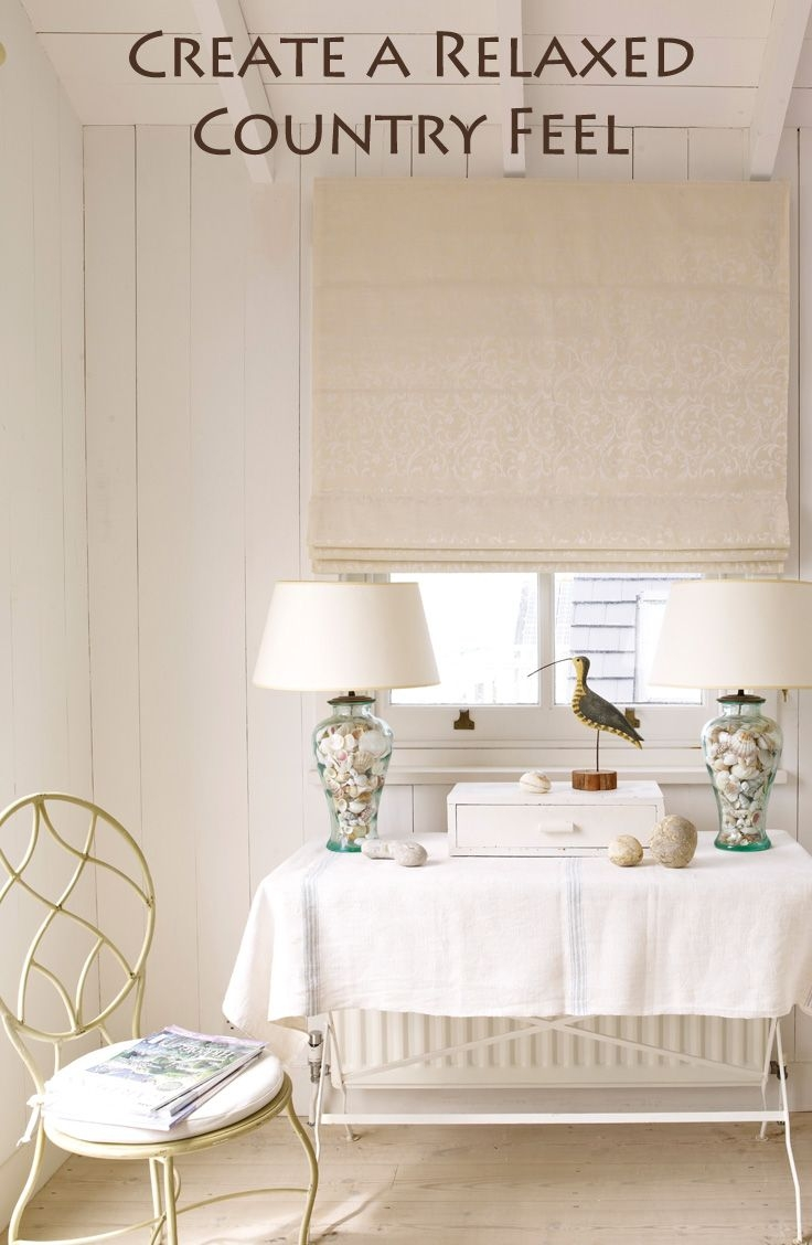 72 Best Images About Roman Blinds On Pinterest Hunter Douglas Throughout Neutral Roman Blinds (View 7 of 15)