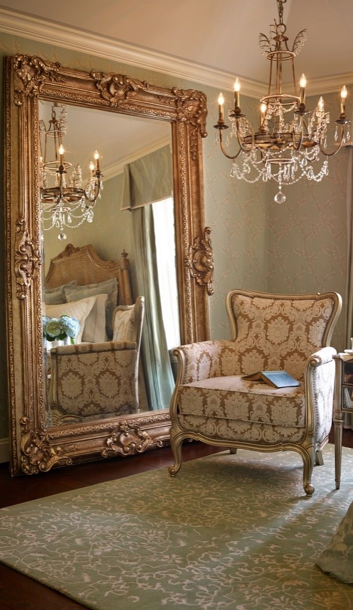 855 Best Images About Gorgeous Mirrors On Pinterest Floor Regarding Antique Gold Mirrors Large (Image 2 of 15)
