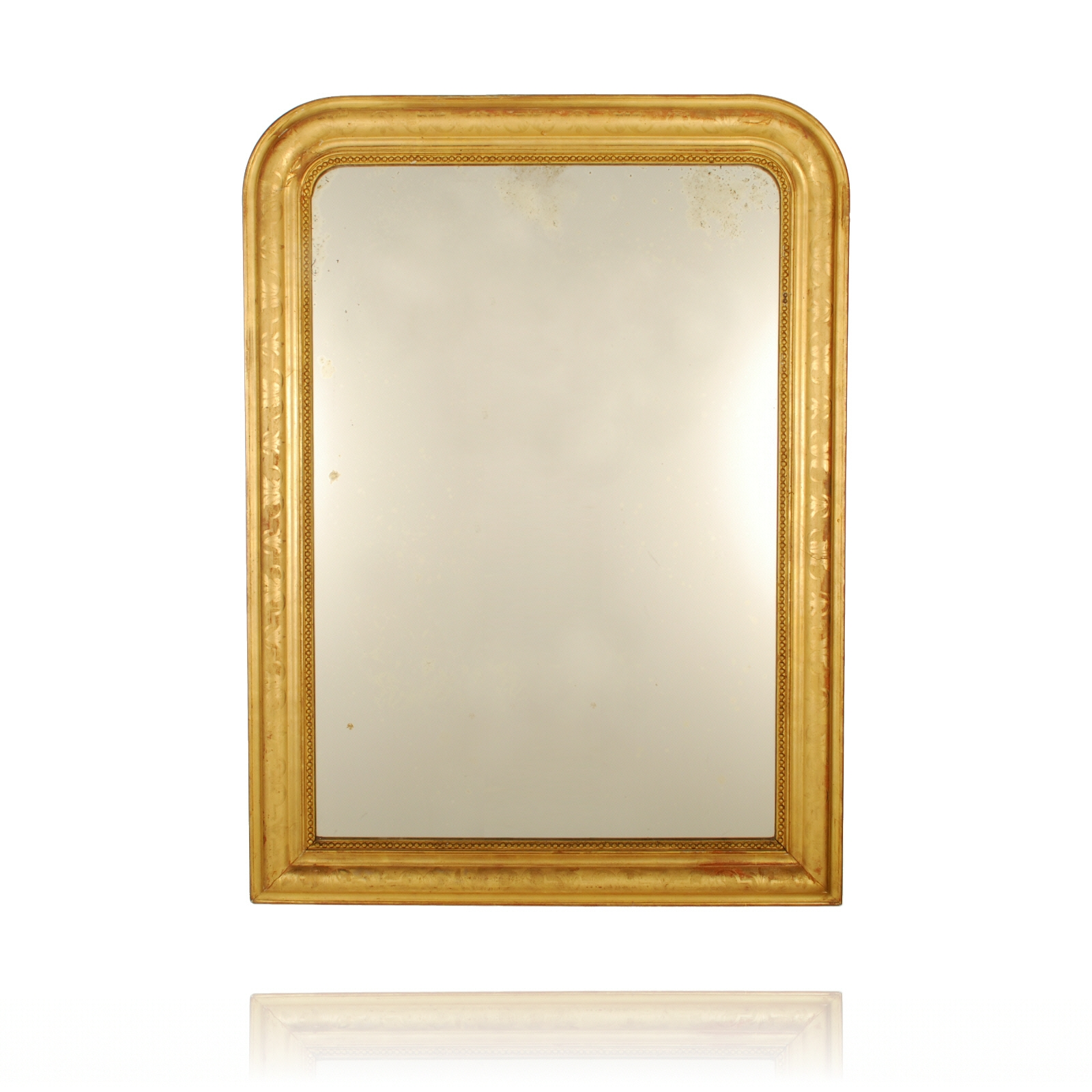 9 Creative Gold Leaf Mirror Lotusep Within Antique Gold Mirror French (Image 3 of 15)