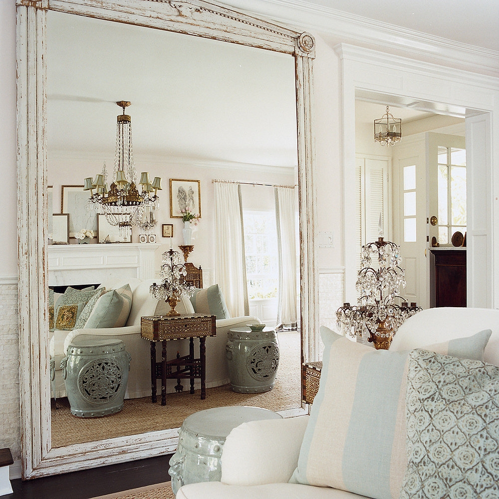 9 Ways To Fake Extra Square Footage With Mirrors Small Spaces Intended For Huge Mirrors For Cheap (Image 2 of 15)