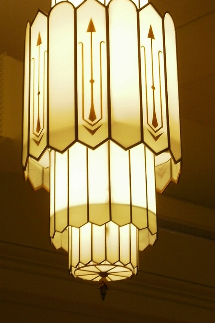 90 Best Images About Art Deco Chandeliers On Pinterest The Within Art Deco Chandeliers (Image 2 of 15)