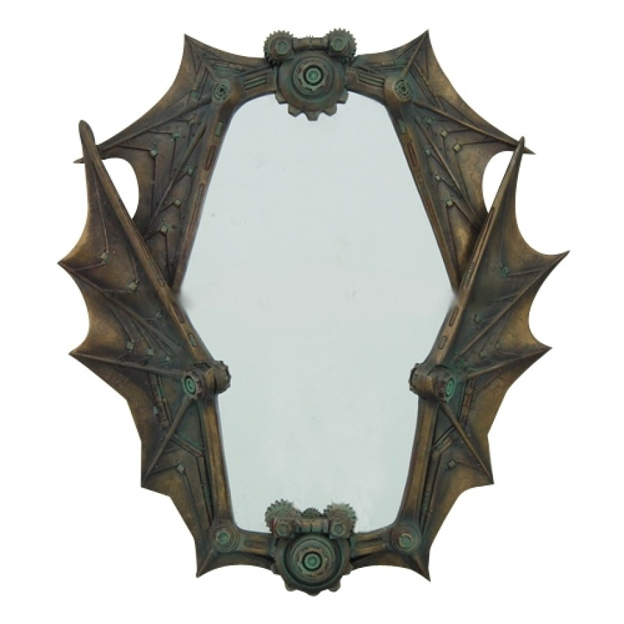 9157 Steampunk Mirror 900×900 In Gothic Wall Mirror (Image 4 of 15)