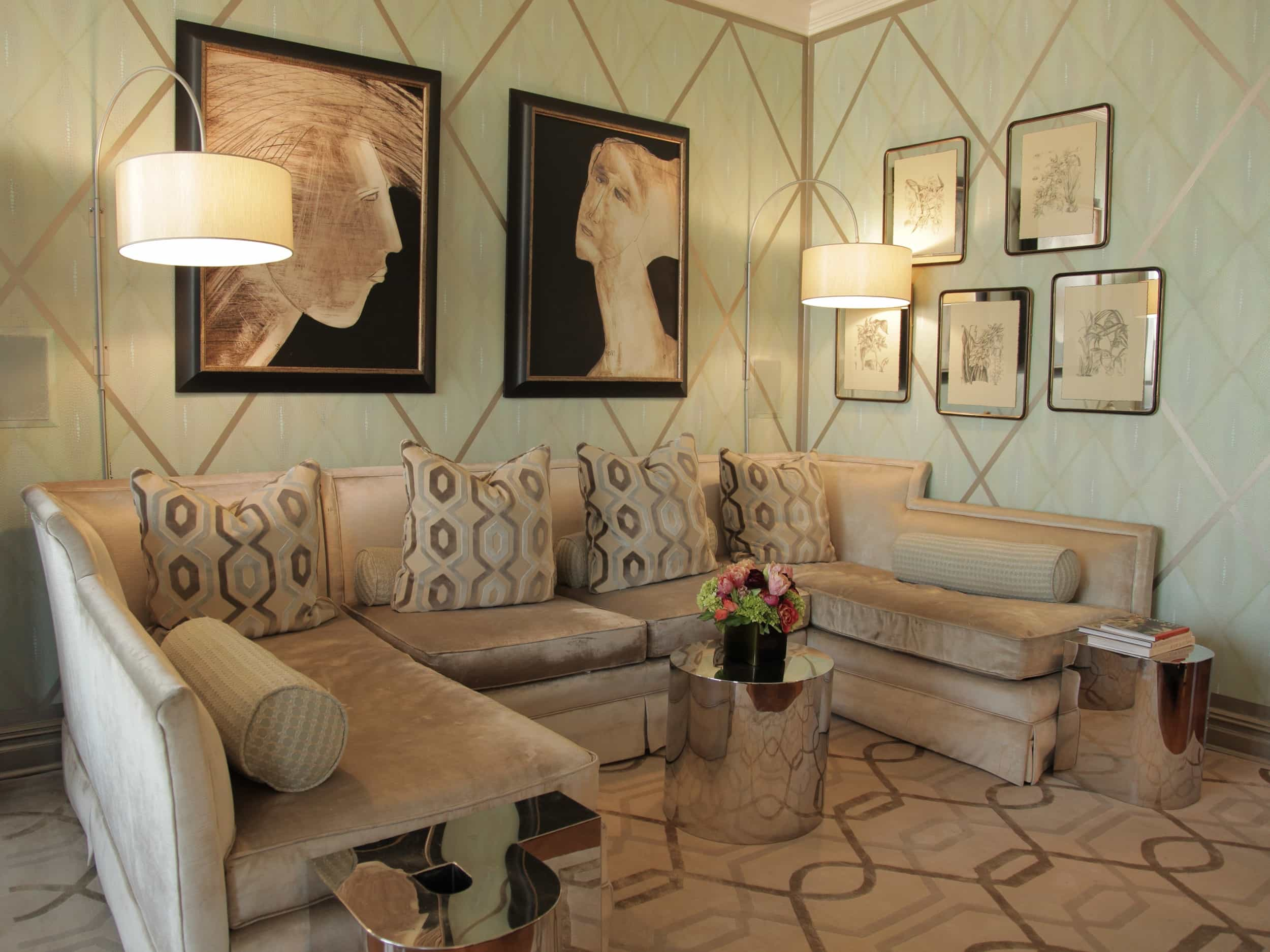 Featured Image of Art Deco Inspired Neutral Living Room