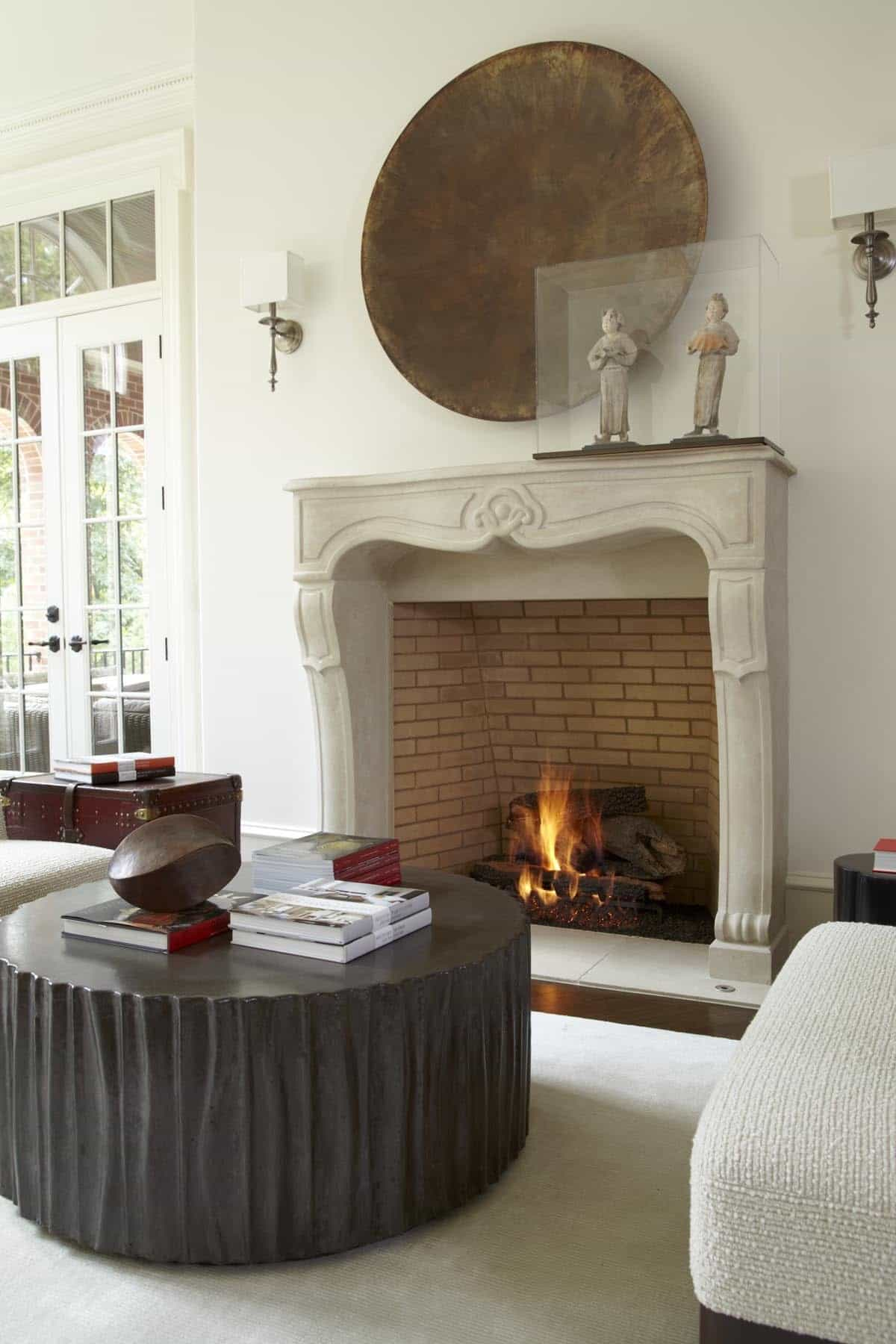 Featured Image of Asian Living Room With Decorative Fireplace Surround