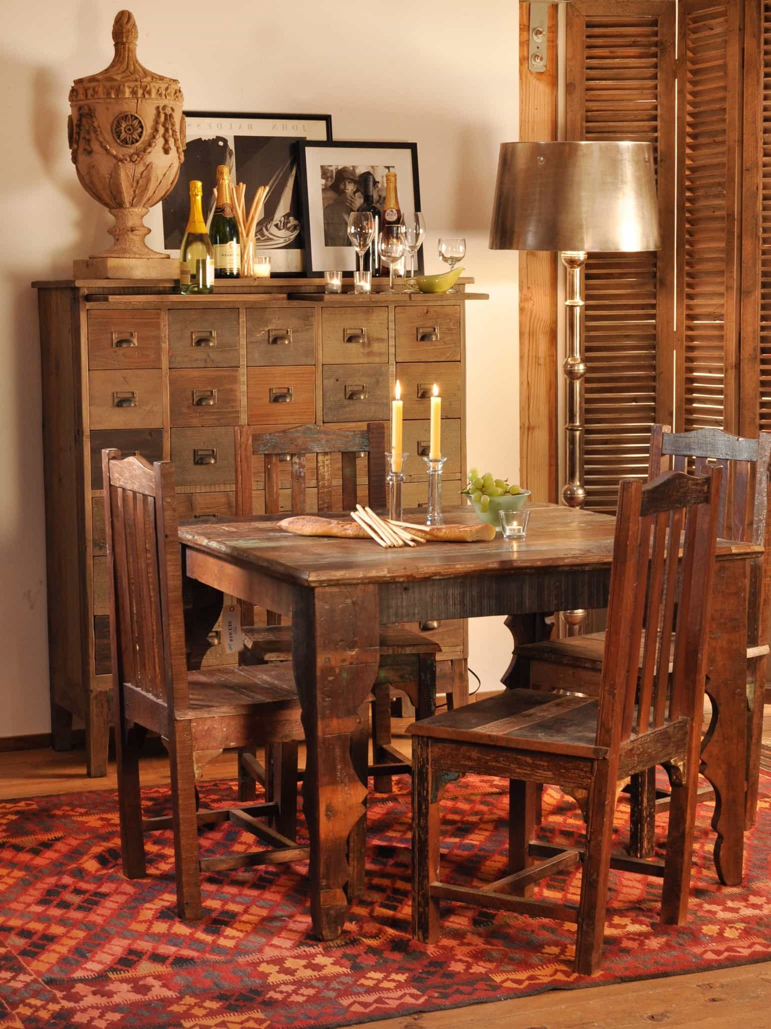 Featured Image of Asian Dining Room With Eclectic Craftsman Furniture