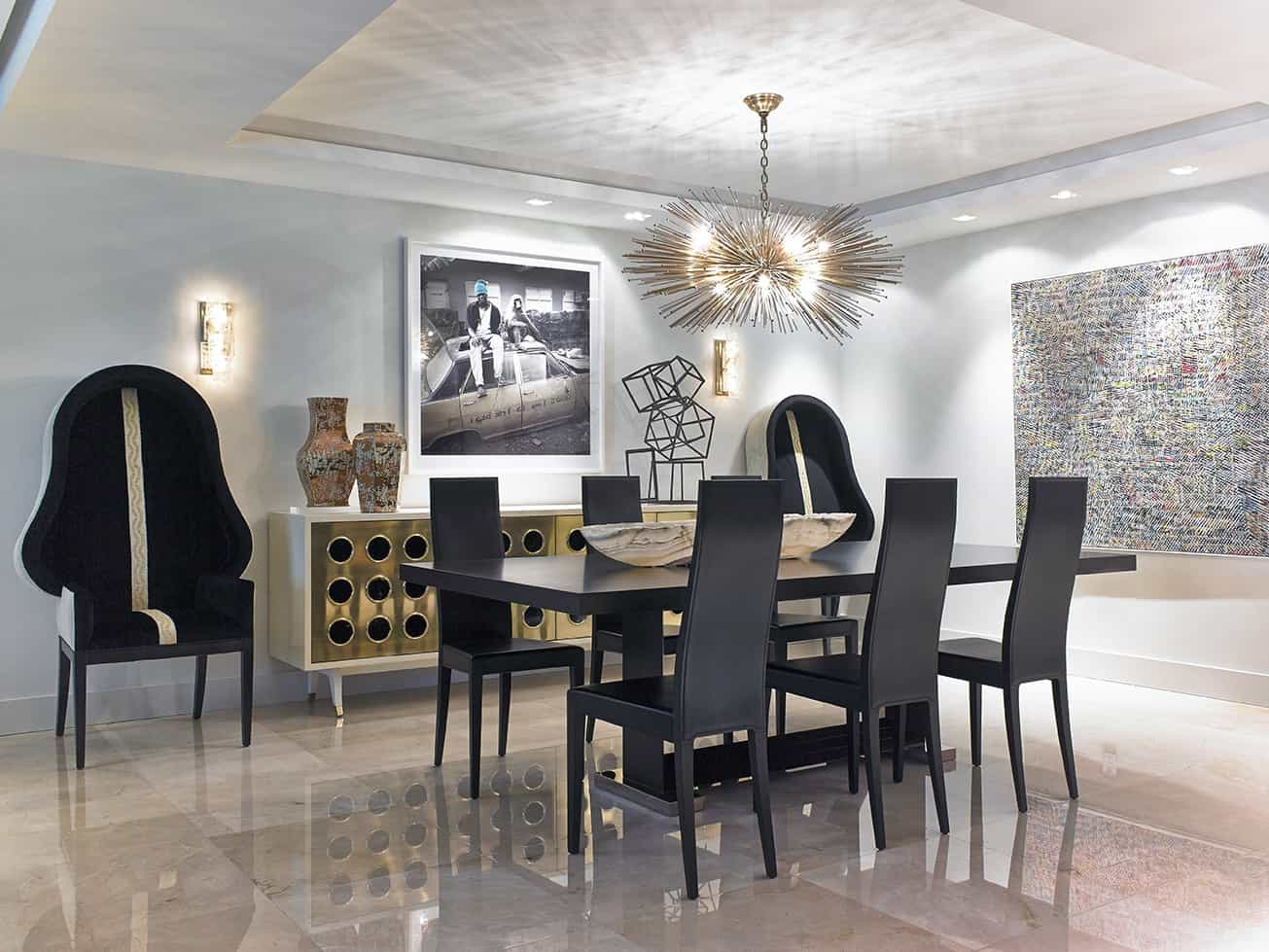 Featured Image of Black Furniture Sets For Art Deco Dining Room