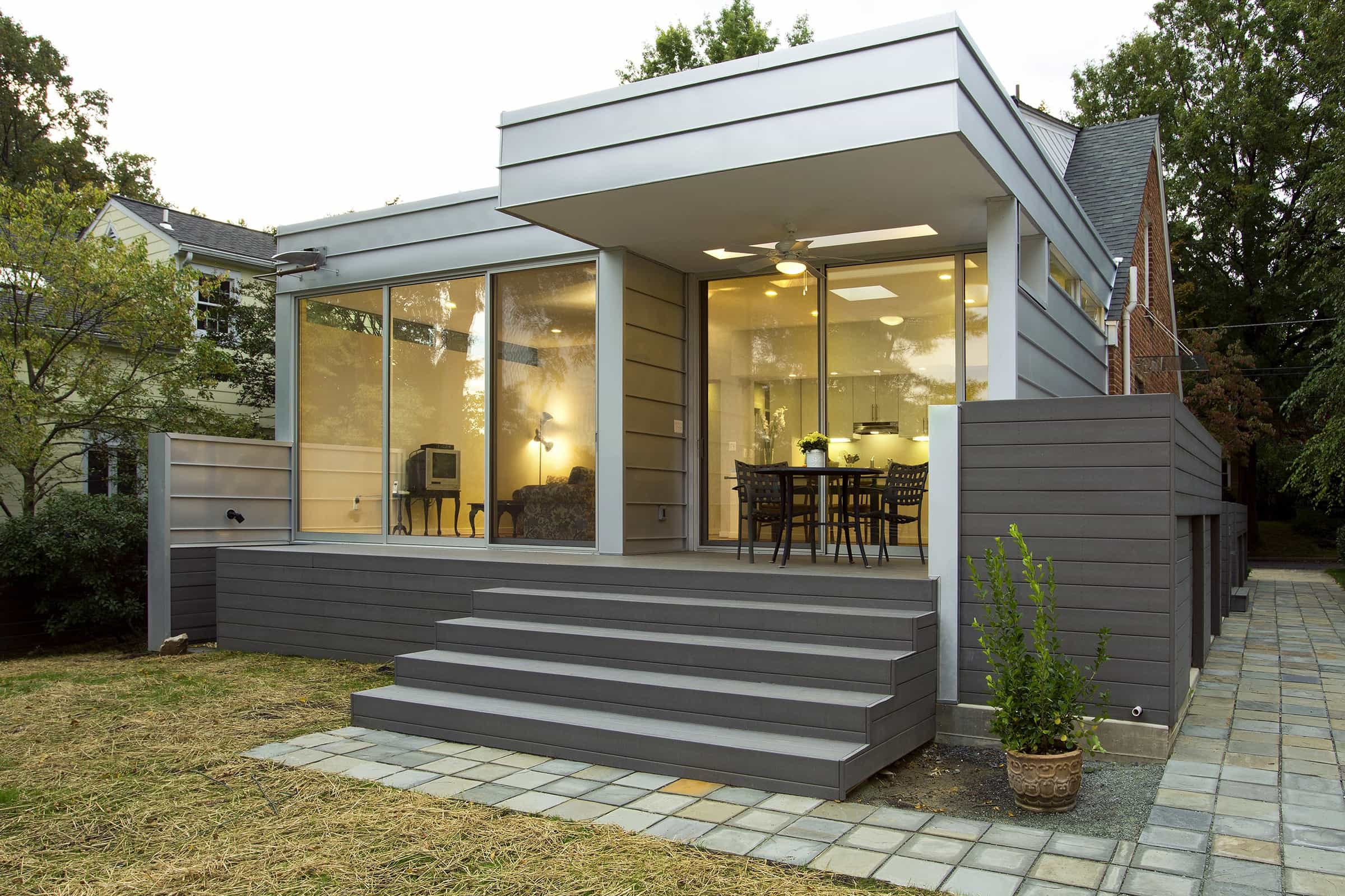 Featured Image of Cape Cod Home With Glass Sliding Doors And Patio