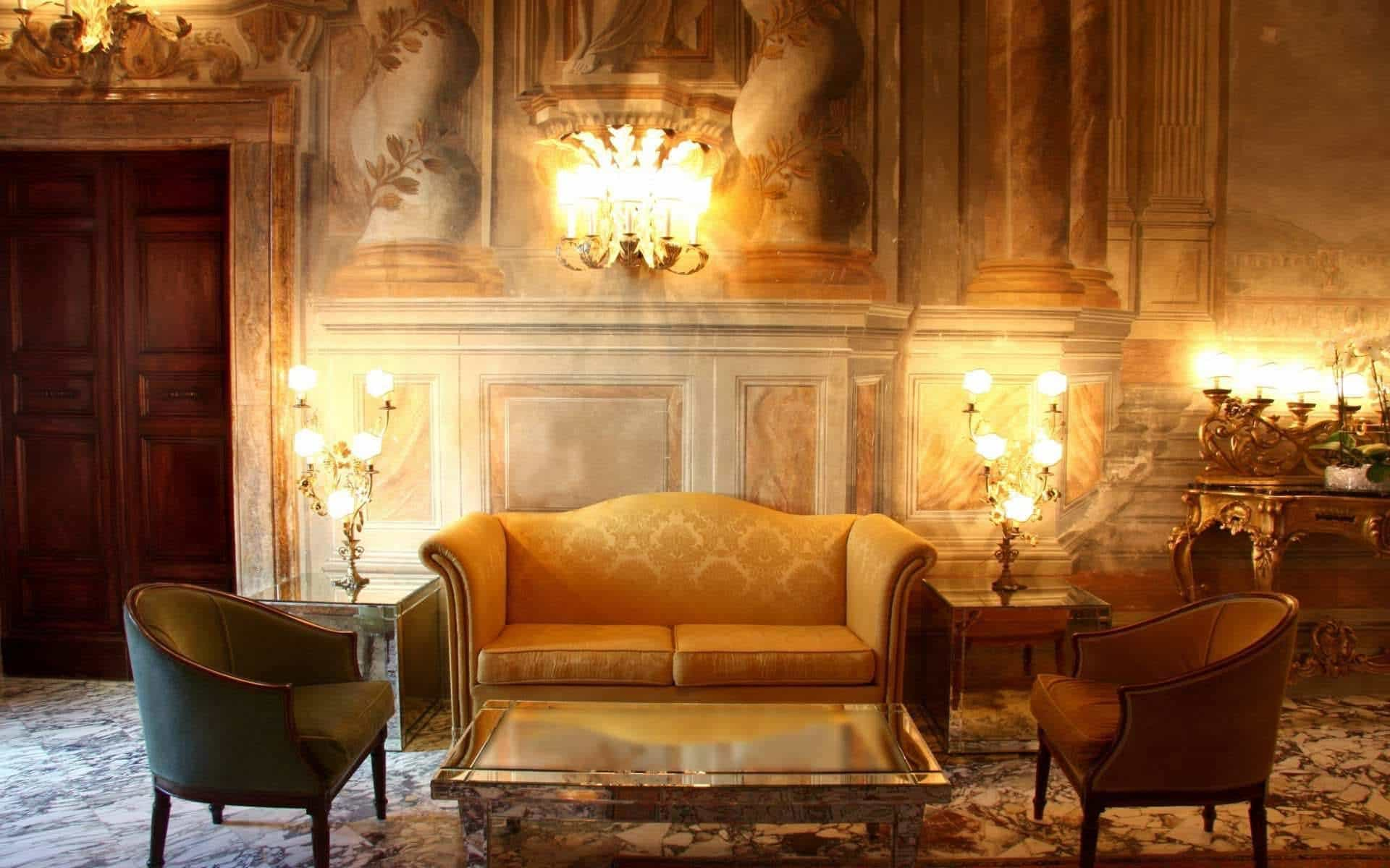 Featured Image of Classic Indian Living Room With Marble Wall Decor