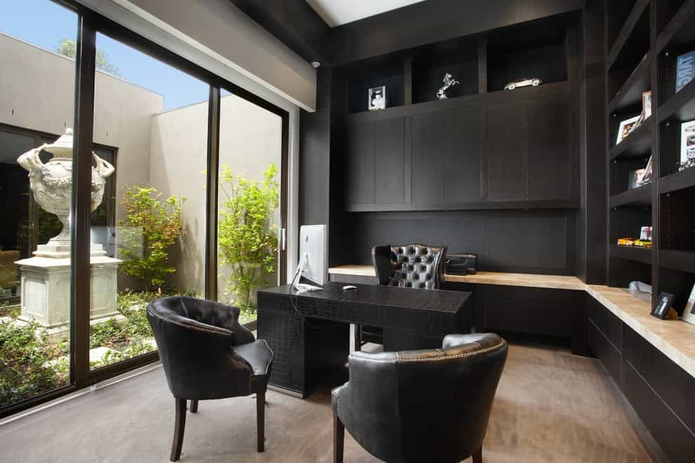 Classy Executive Home Office Chairs In Black Color (Image 4 of 16)