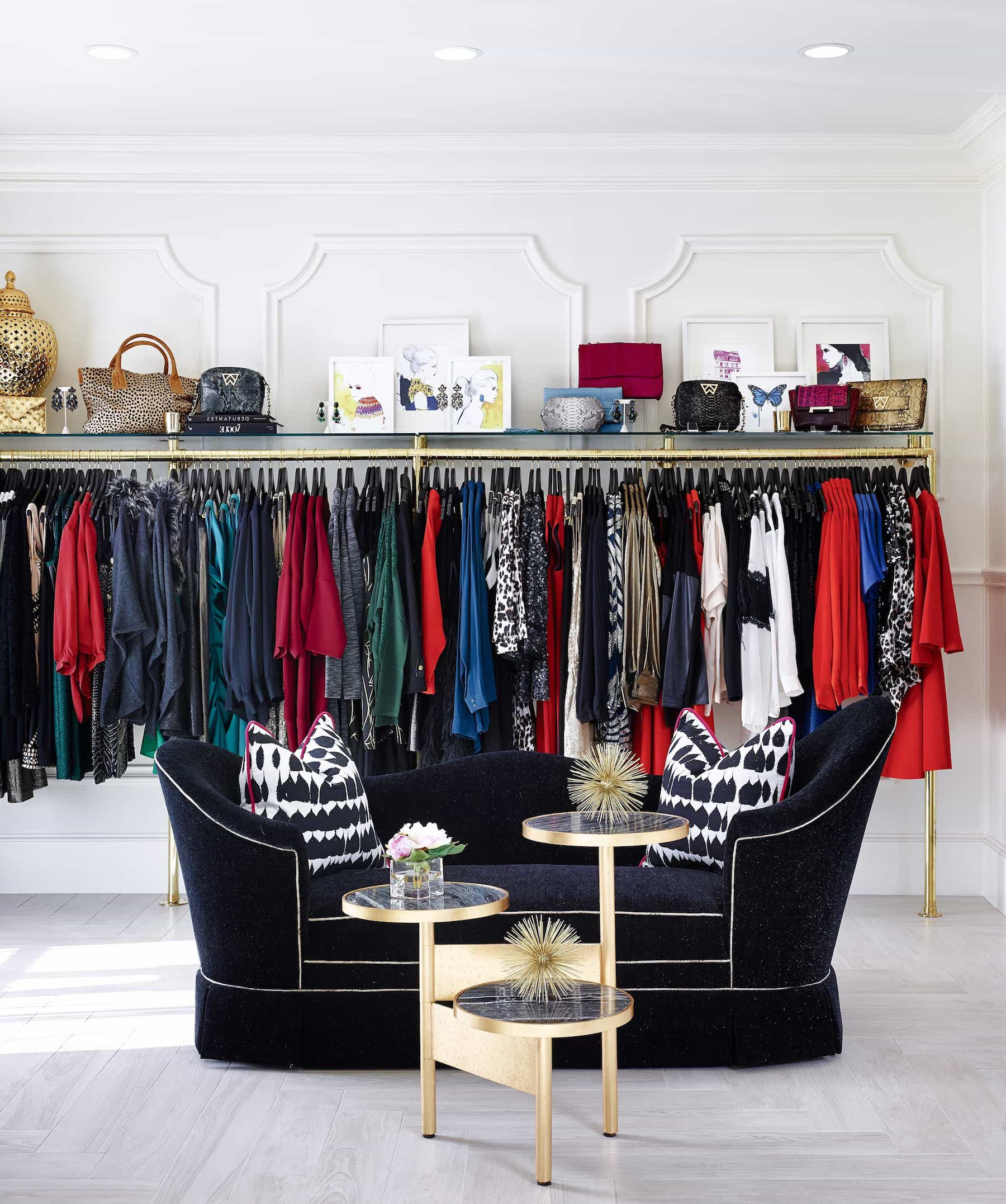 Featured Image of Clothing Rack And Black Art Deco Bench