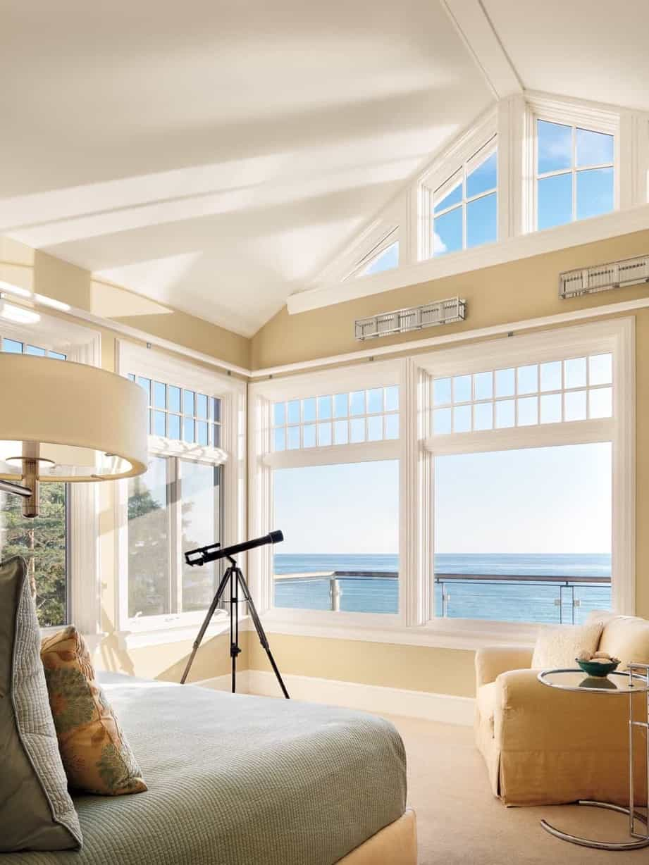 Featured Image of Coastal Bedroom With Vaulted Ceiling