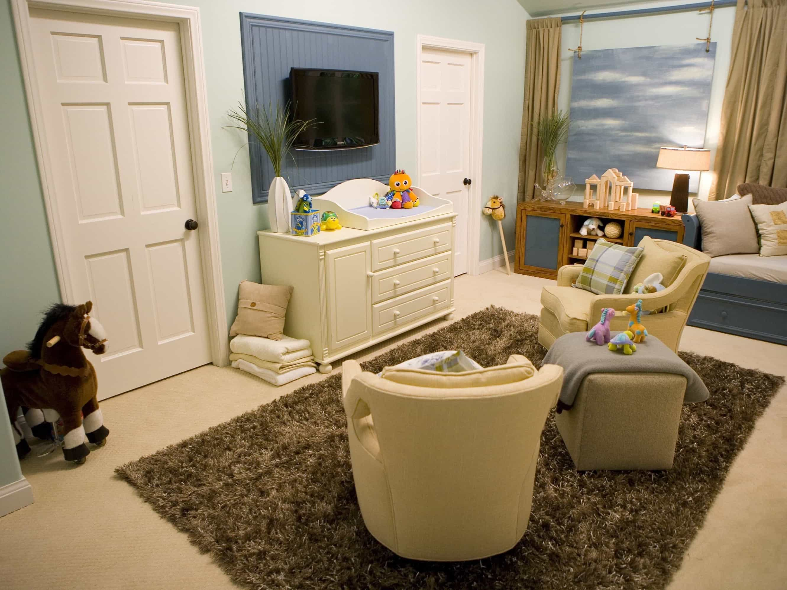 Featured Image of Coastal Nursery With Soft Blue Color Scheme