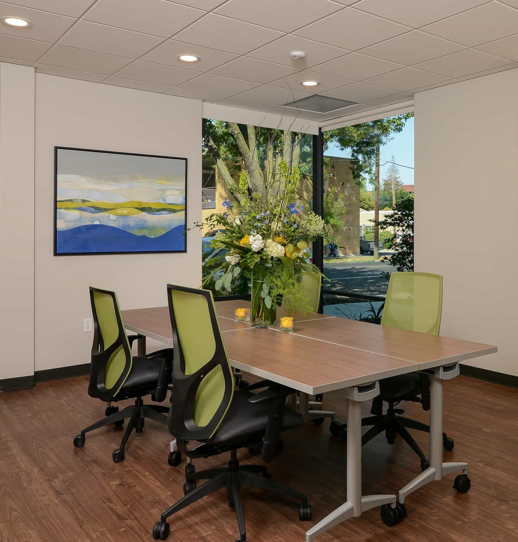 Featured Image of Contemporary Meeting Space With Lime Green Chairs