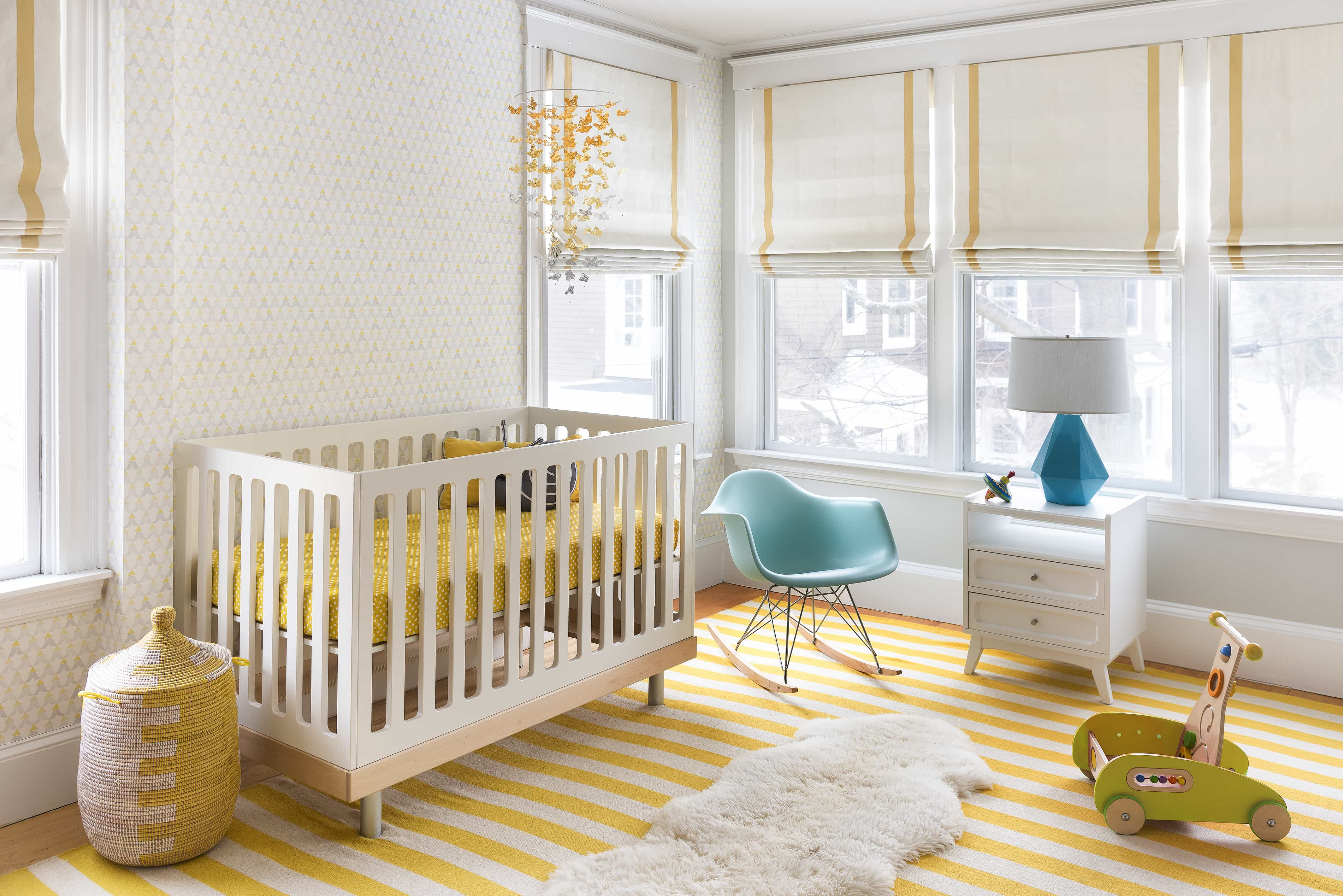 Featured Image of Contemporary Nursery Yellow Color Accents