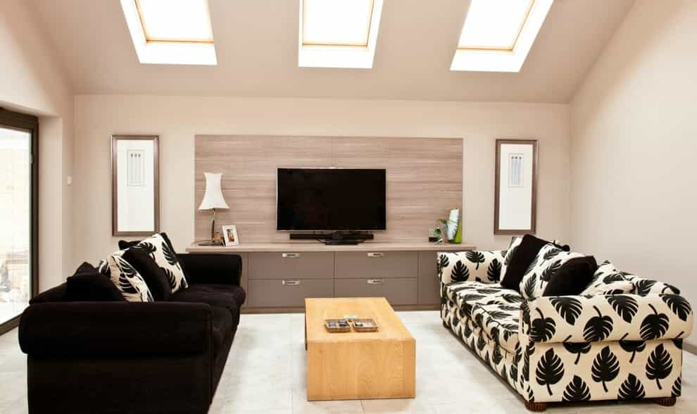 Featured Image of Contemporary Wooden Wall Panel And TV Stand Wooden Cabinet