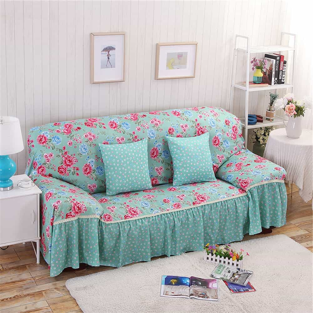 Featured Image of Cozy Flower Floral Stripe Sofa Couch